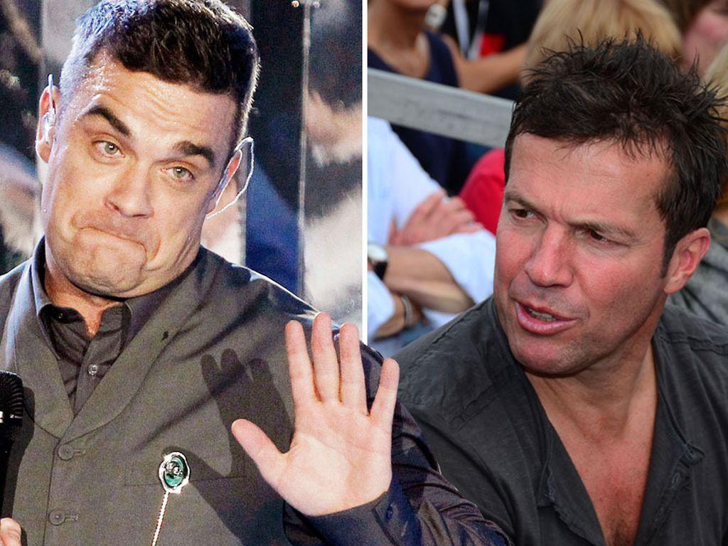 Robbie Williams und Lothar Matthäus