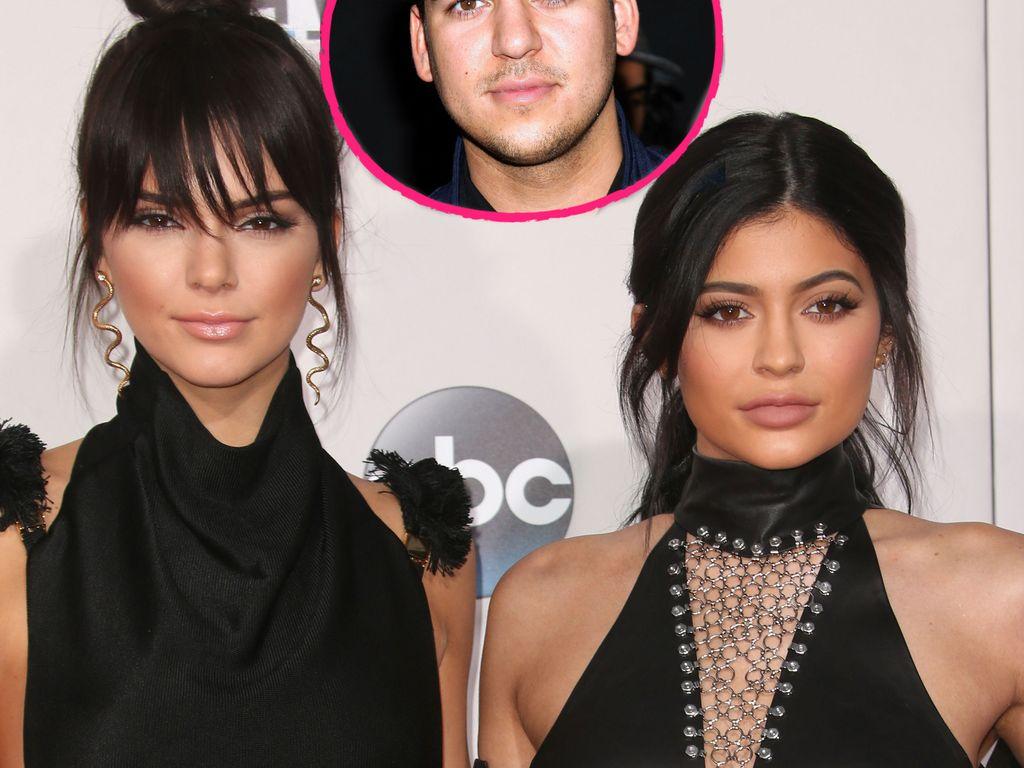 Kylie Jenner, Kendall Jenner und Robert Kardashian