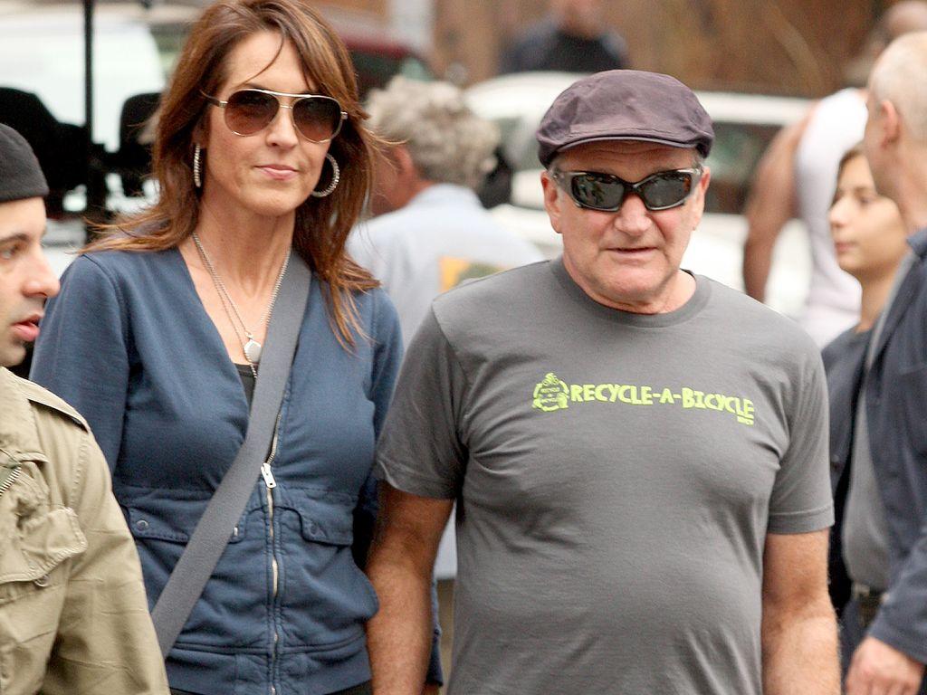 Susan Schneider und Robin Williams beim Shopping in New York im Oktober 2012
