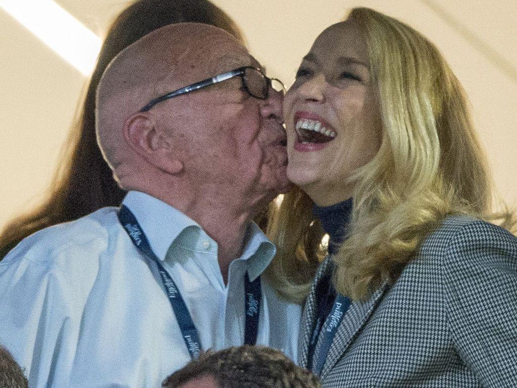 Jerry Hall und Rupert Murdoch