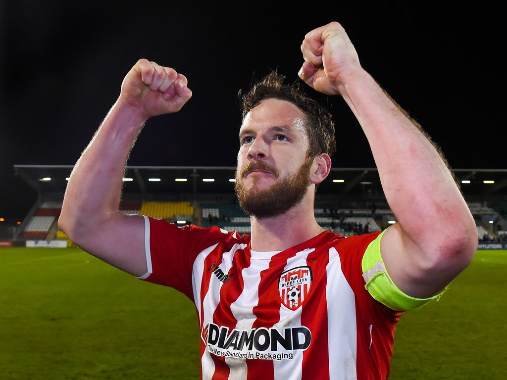 Fußballer Ryan McBride in Dublin