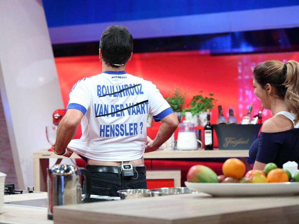 Sabia Boulahrouz und Steffen Henssler