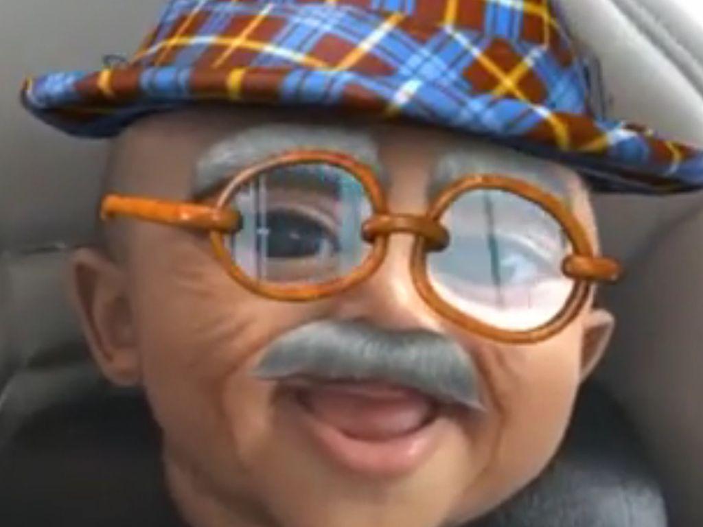 Saint West als Opa bei Snapchat