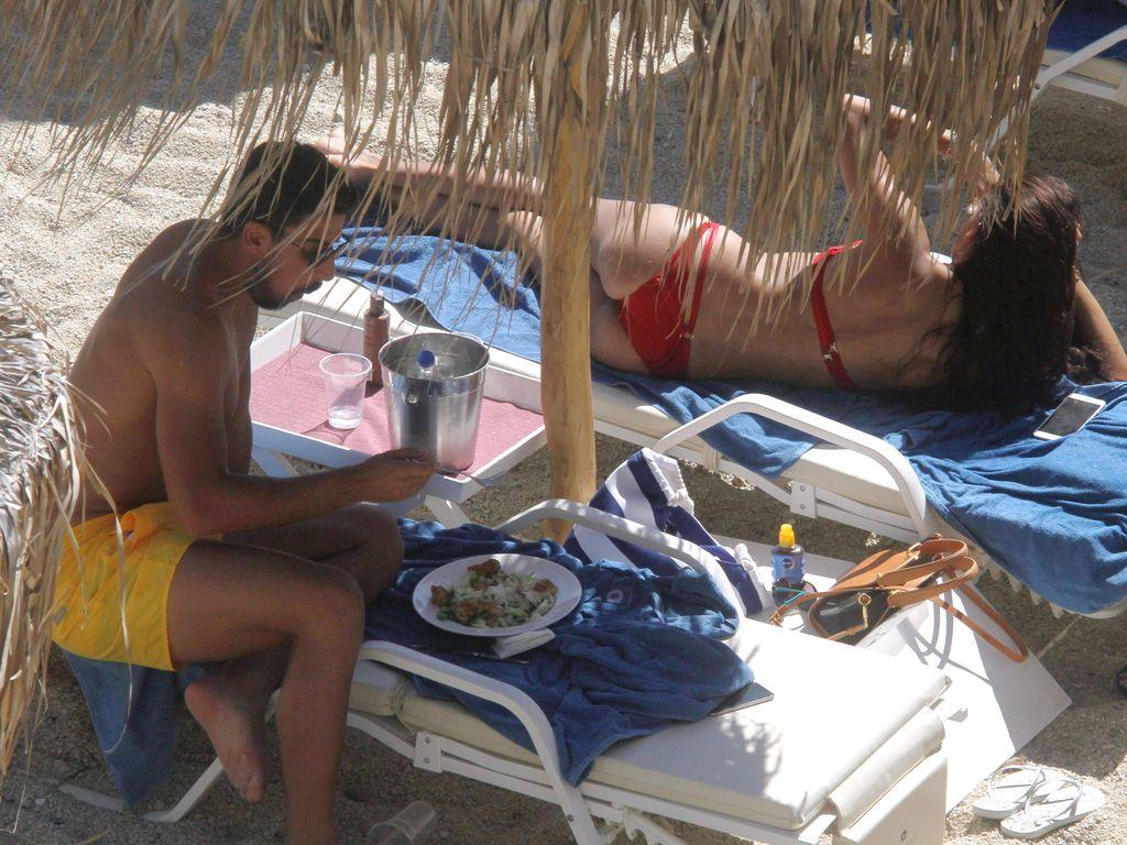 Sami Khedira und Adrina Lima auf Mykonos