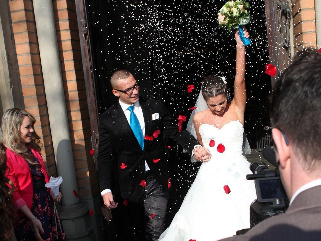 Sarah Engels und Pietro Lombardi bei ihrer Hochzeit
