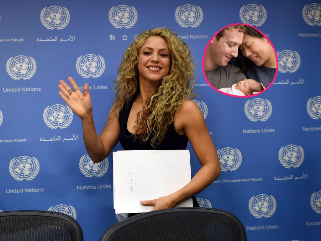 Shakira, Mark Zuckerberg und Priscilla Chan