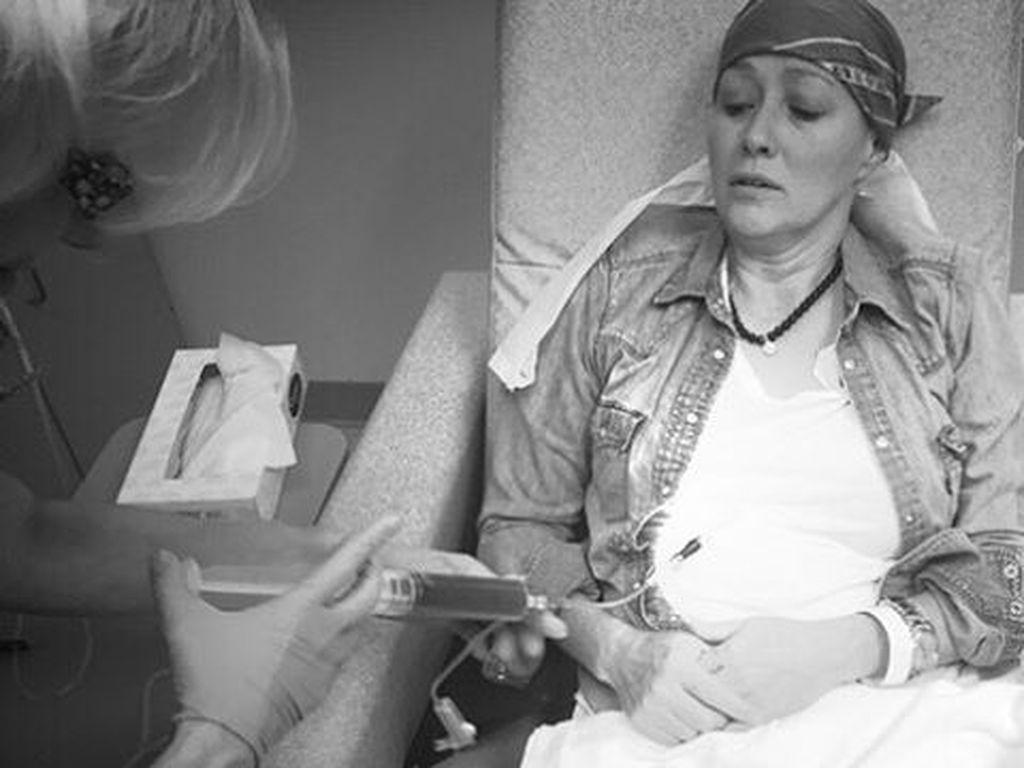 Shannen Doherty bei der Chemo