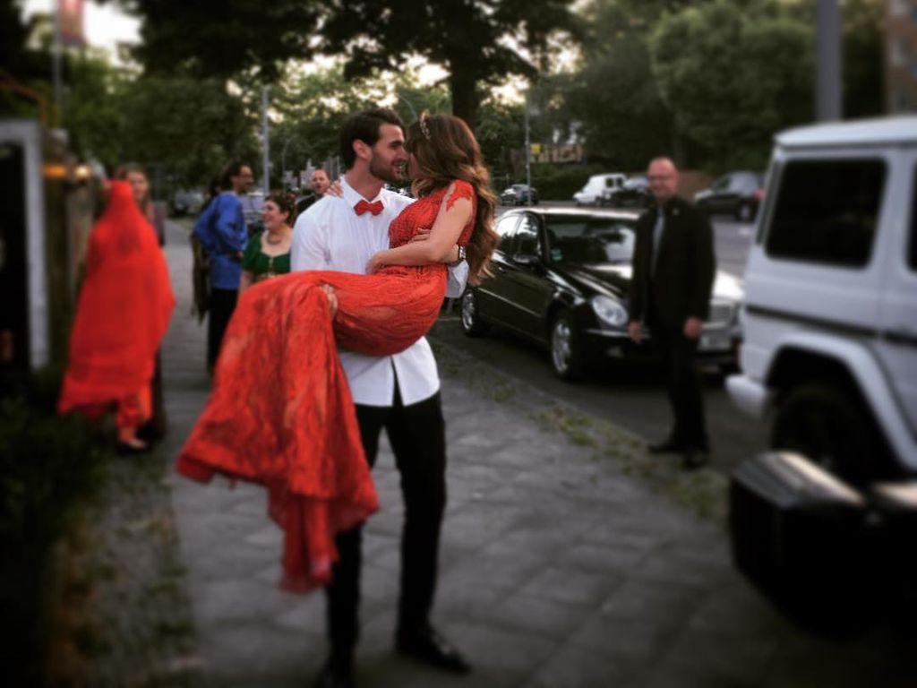 Sila Sahin und Samuel Radlinger am Henna-Abend vor ihrer Hochzeit