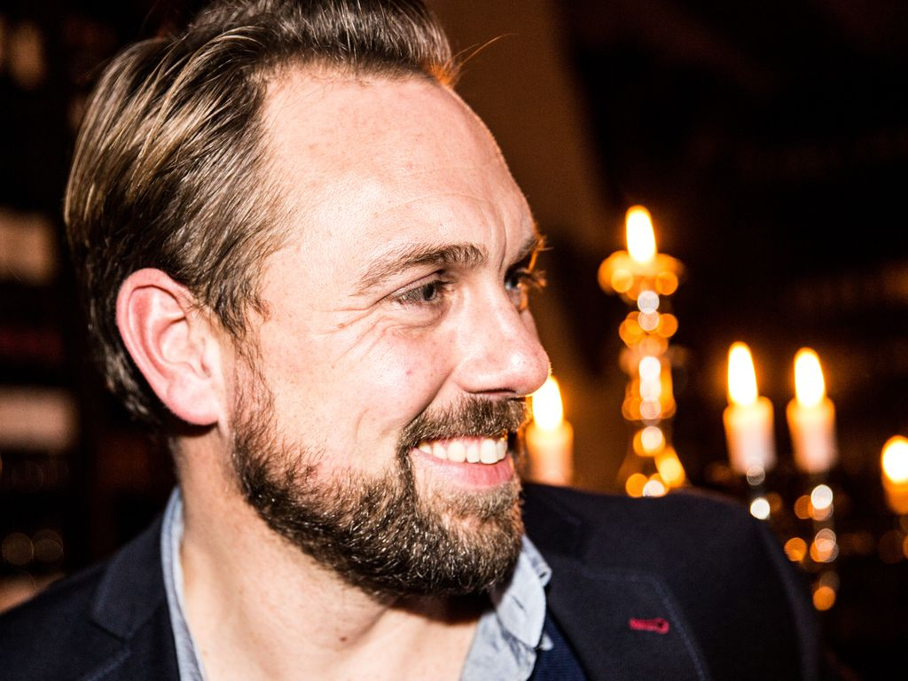 Steven Gätjen bei der Party zu Franziska Knuppes 40. 2014 in Berlin