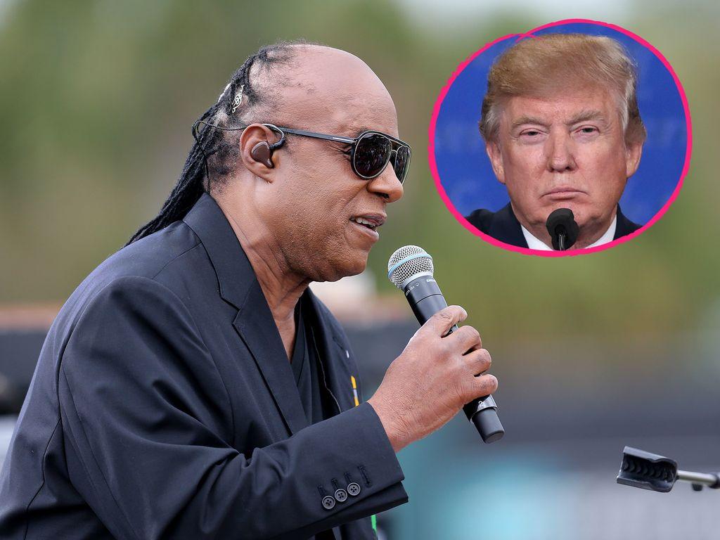 Stevie Wonder und Donald Trump
