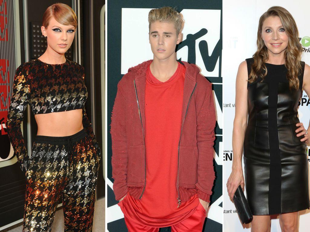 Taylor Swift, Justin Bieber und Sarah Chalke