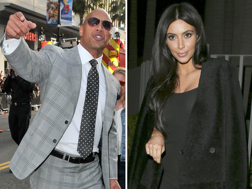 """Kim Kardashian und Dwayne """"The Rock"""" Johnson"""
