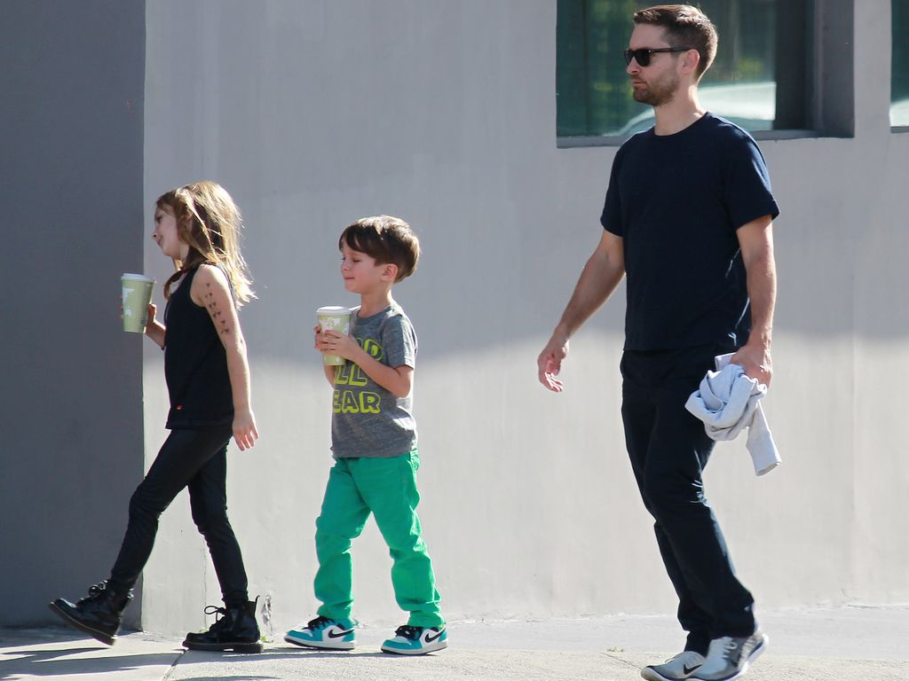 Tobey Maguire, Otis Tobias Maguire und Ruby Sweetheart Maguire