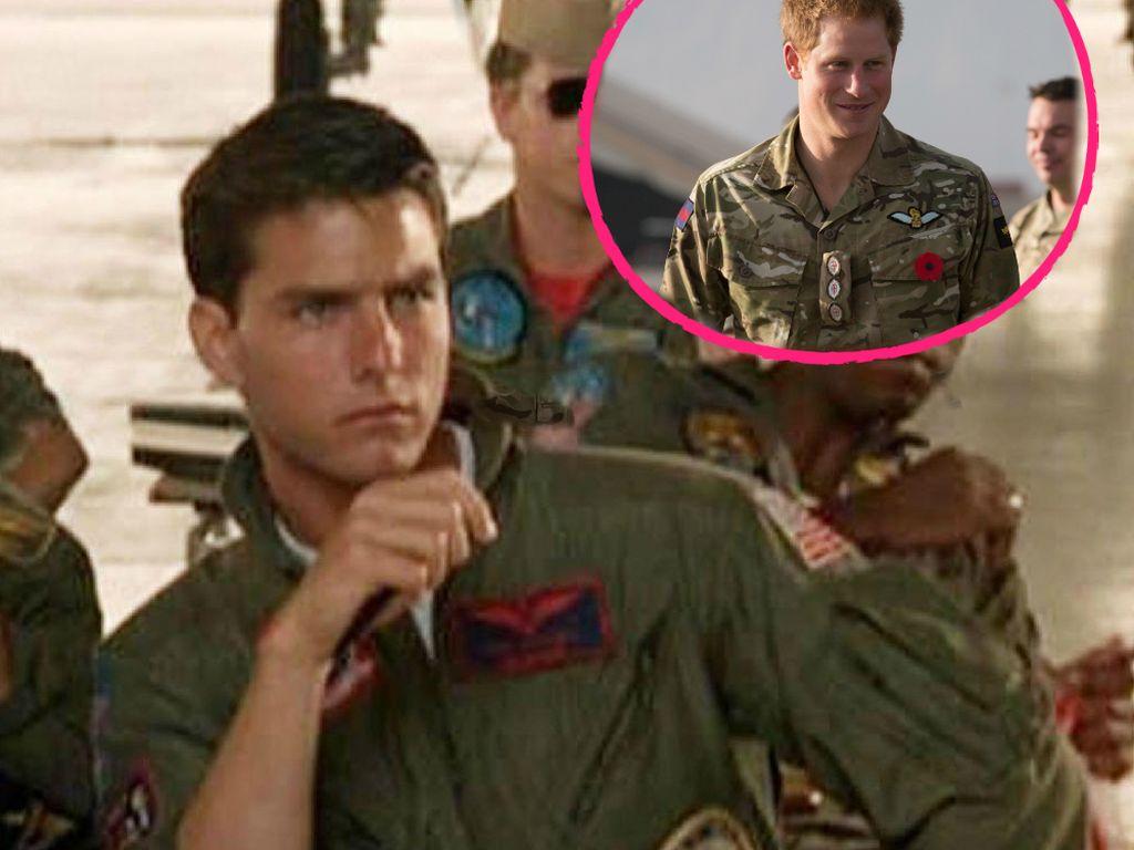Prinz Harry und Tom Cruise