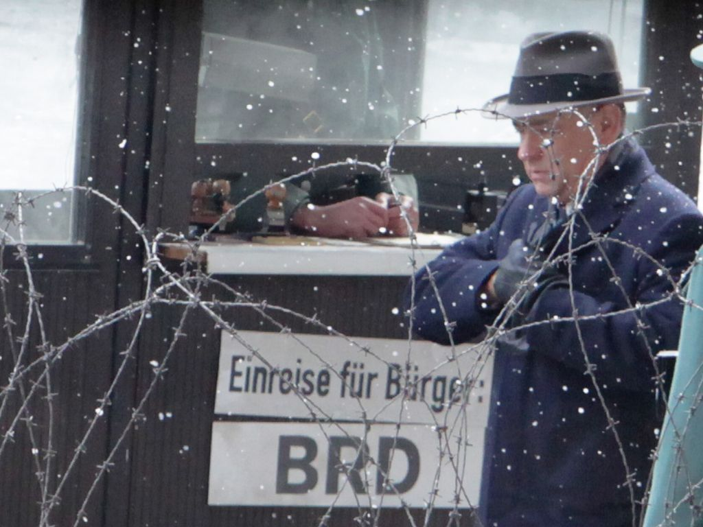 Tom Hanks am Filmset in Berlin