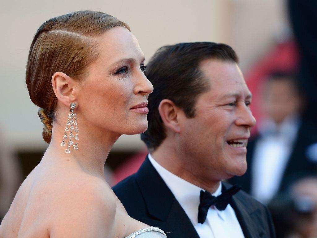 Uma Thurman und Arpad Busson bei den Filmfestspielen in Cannes 2013
