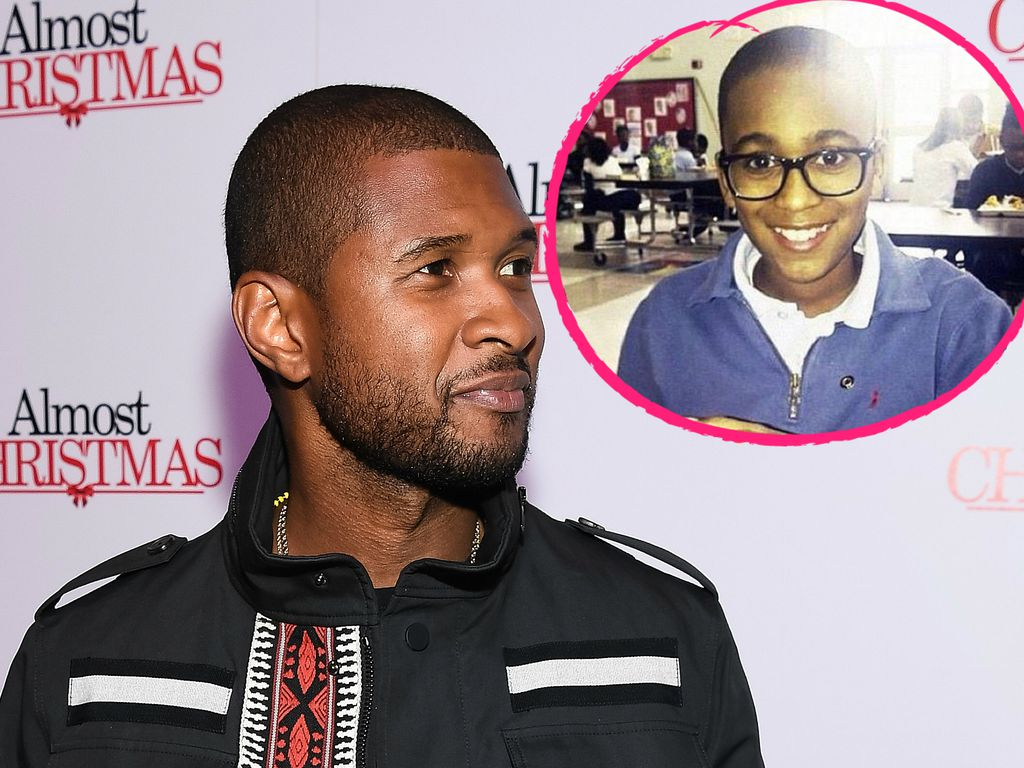 Usher und sein Stiefsohn Kyle Glover