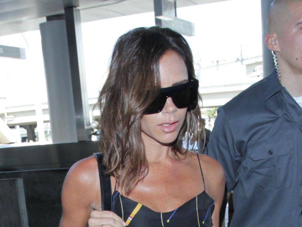 Victoria Beckham am Flughafen