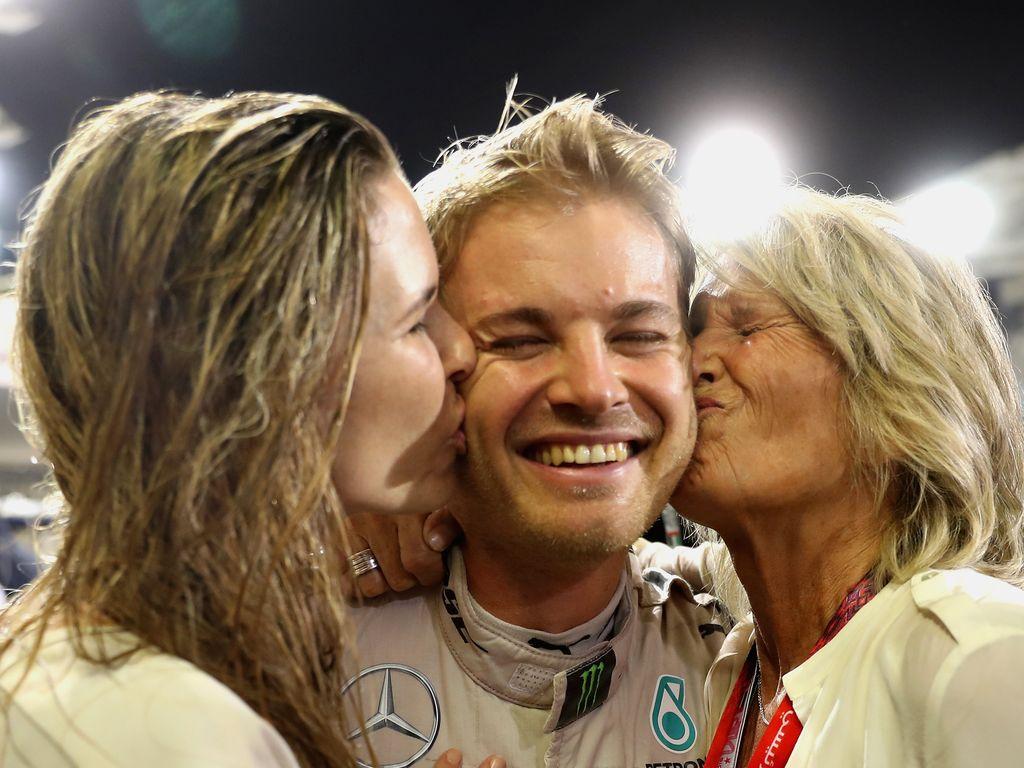 Nico Rosberg mit Ehefrau Vivian Sibold und Mama Sina Rosberg