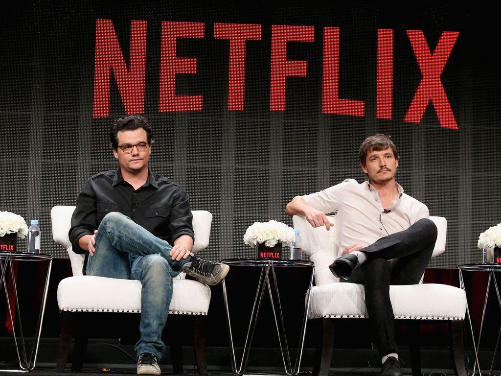 """Wagner Moura und Pedro Pascal bei einem """"Netflix""""-Event"""