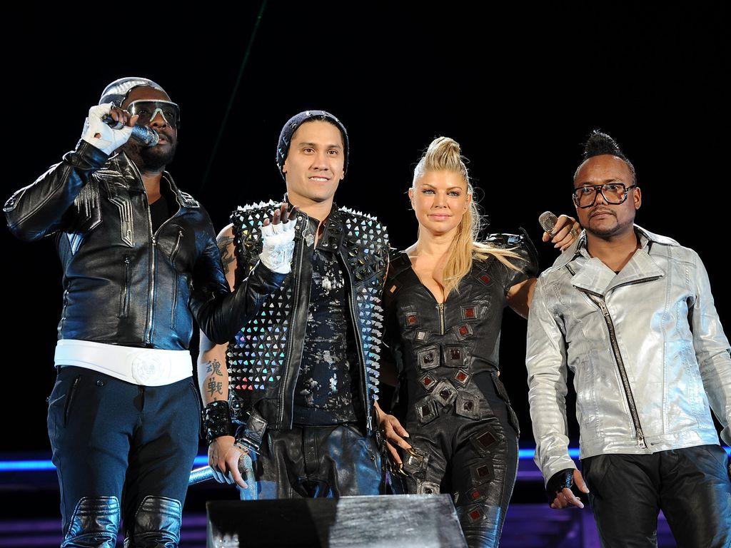 Will.i.am, Taboo, Fergie and apl.de.ap bei einem Konzert in New York im Jahr 2011