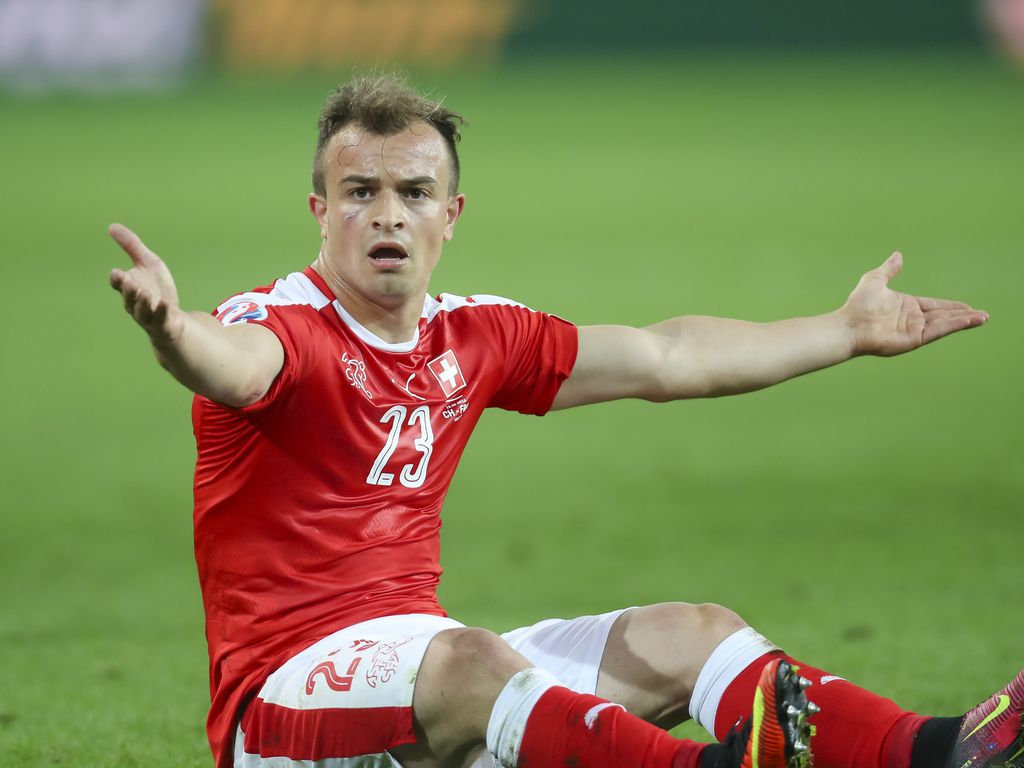 Xherdan Shaqiri beim EM-Spiel Schweiz gegen Frankreich