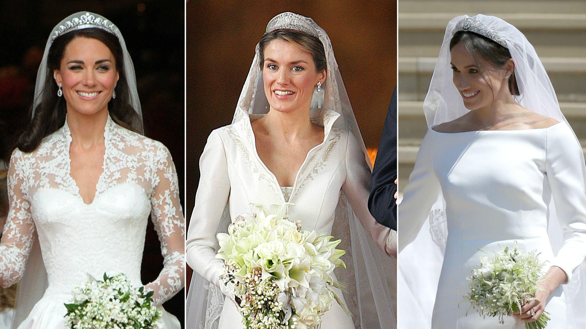 Kate, Letizia oder Meghan? Das war das teuerste Brautkleid