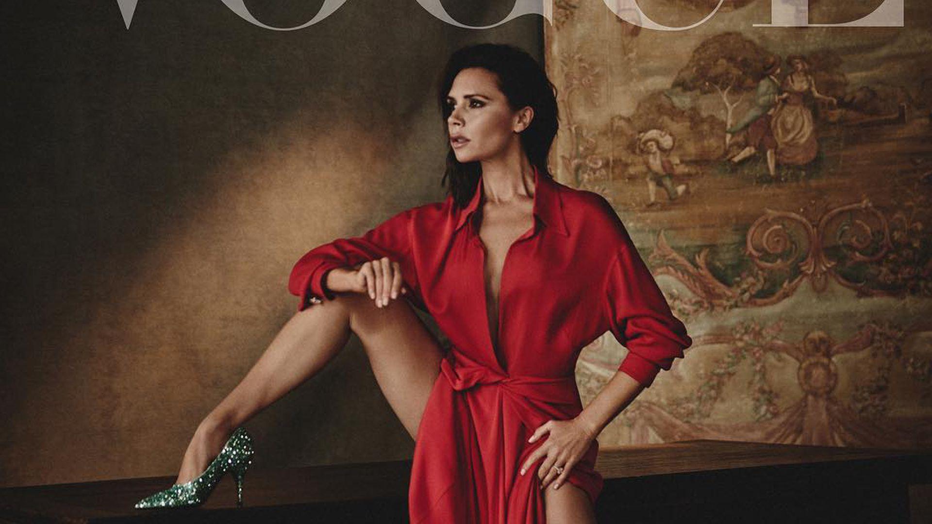 Supersexy Mit 43 Vic Beckham Lasziv Auf Spanischer Vogue