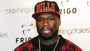 50 Cent in kariertem Hemd