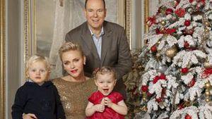 Süßeste Xmas-Grüße: Fürst Albert & Charlène mit den Kids!