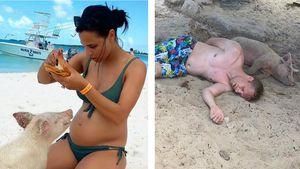 Saumäßiger Urlaub? Amira und Oli entspannen auf den Bahamas