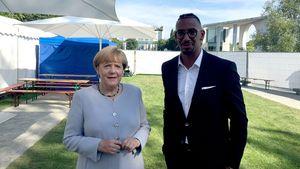 Angela Merkel und Jérôme Boateng in Berlin
