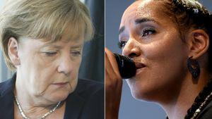 Angela Merkel und Cassandra Steen