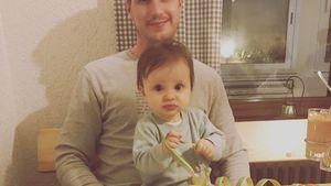 Ania Niediecks Ehemann Chris mit der gemeinsamen Tochter Charlotte