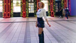 Wow! Anna Ermakova präsentiert Endlos-Beine im Mini-Rock