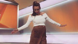 Wow: Schwangere Annemarie Carpendale im Indianer-Look!
