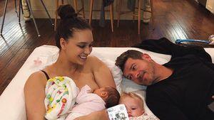Beim Stillen: Robin Thicke & April posten süßes Familienfoto