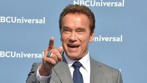 Arnold Schwarzenegger in New York