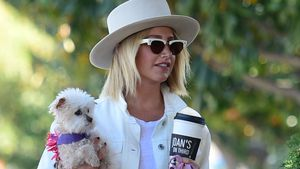 Super-drollig! Ashley Tisdale trägt ihr Hündchen spazieren