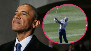 Barack Obama beim Golfen