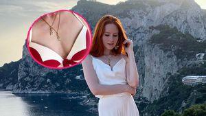 Mit Halskette: Barbara Meier feiert ihren neuen Nachnamen