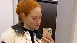 Pose und Outfit: So kaschiert Barbara Meier Schwanger-Bauch