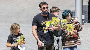 Ben Affleck mit seinen Kids und J.Los Tochter unterwegs