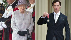 Queen Elizabeth II. und Benedict Cumberbatch