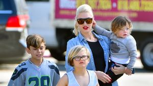 Gwen Stefani mit Kingston, Zuma und Apollo (von links)