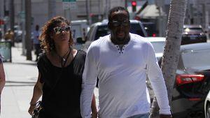 Sänger Bobby Brown mit seiner Ehefrau Alicia Etheridge