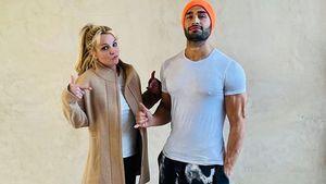 Lässige Pose: Neues Pärchenfoto von Britney Spears und Sam