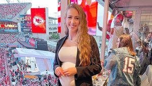 Patrick Mahomes' Verlobte hochschwanger beim Super Bowl