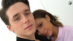Brooklyn und Victoria Beckham