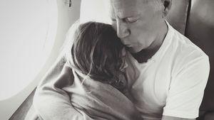 Starkes Foto: Hier ist Action-Star Bruce Willis ganz soft